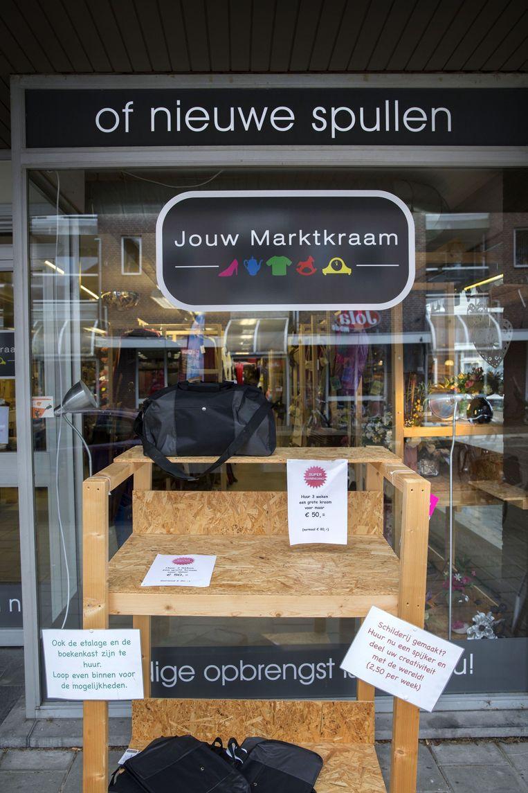 Huur je eigen marktkraam, zoals hier in Maarssen. Beeld Werry Crone
