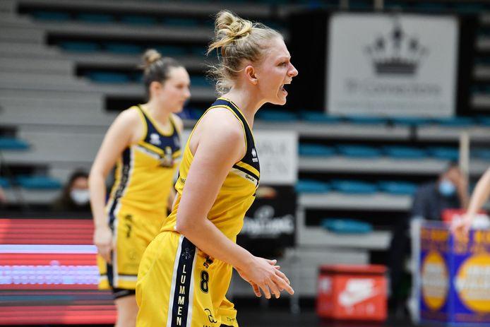 Tatiana Verdonck van Athenas Lummen (Top Division) keerde ondanks de nederlaag bij Kangoeroes Mechelen toch met een goed gevoel huiswaarts.