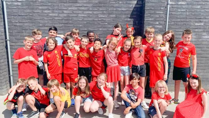 Rode Duivels-gekte slaat toe in Kruisemse scholen: leerlingen massaal in zwart-geel-rood naar school
