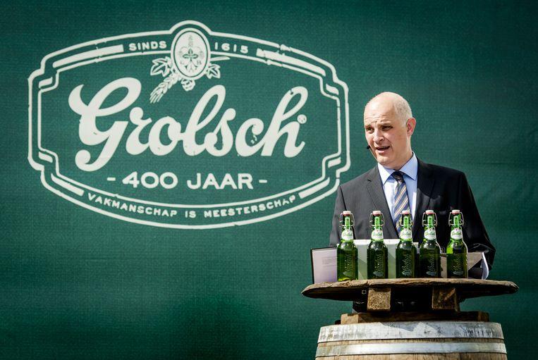 Andrei Haret, algemeen directeur van Grolsch, houdt een toespraak op het 400-jarig jubileum Beeld anp