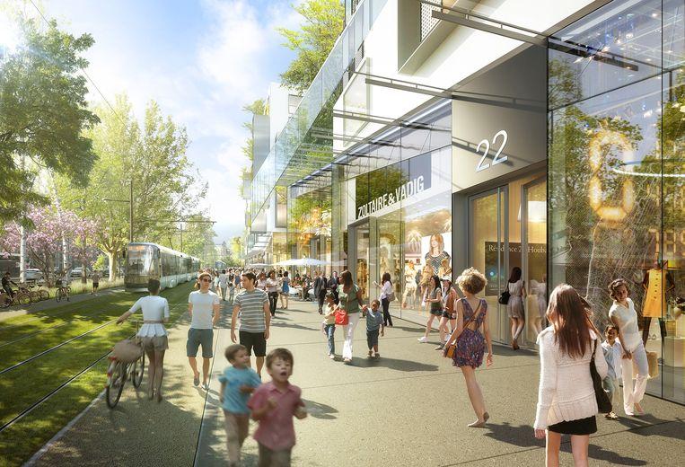 Mall of Europe op de Heizel. 112.000 vierkante meter oppervlakte. Behalve voor winkels is er plaats voor groen, een kunstpromenade, een mini-wetenschapspark en een marktplein. Zou moeten openen in 2021, maar moet nog door de vergunningsfase. Kostprijs: 800 miljoen.  Beeld RV