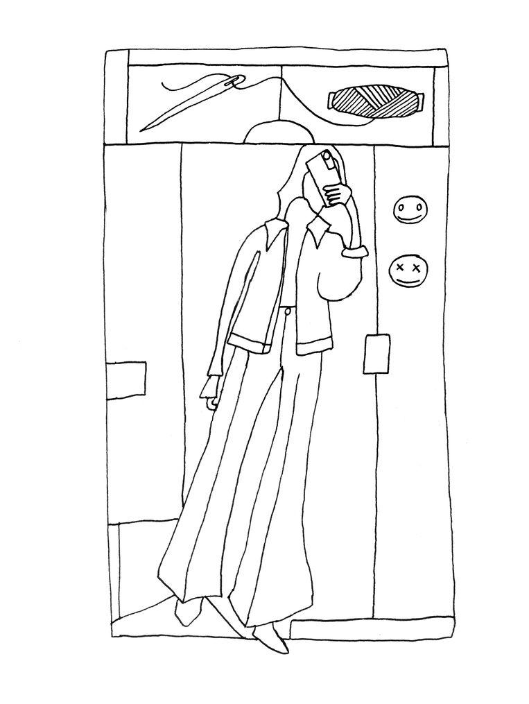 De ontwerptekening voor de naaldkunst van Vanessa Oostijen. Beeld Vanessa Oostijen