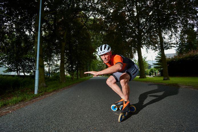 DS-2021-10365 VORDEN Arjan Mombarg gaat begin september 24 uur nonstop skeeleren voor een goed doel: stichting Kika EDITIE: Zutphen en Achterhoek FOTO: Arjan Gotink AG20210723
