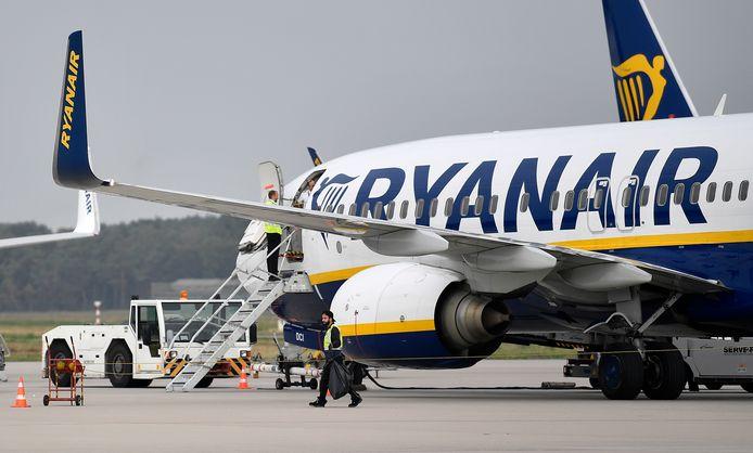 Er zal één vliegtuig worden weggehaald uit Zaventem volgens Ryanair.