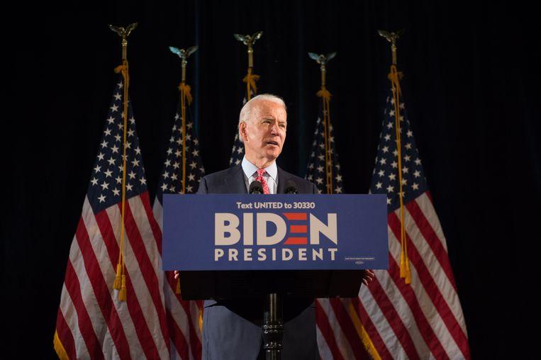 Joe Biden is de nieuwe Democratische presidentskandidaat. Beeld EPA.