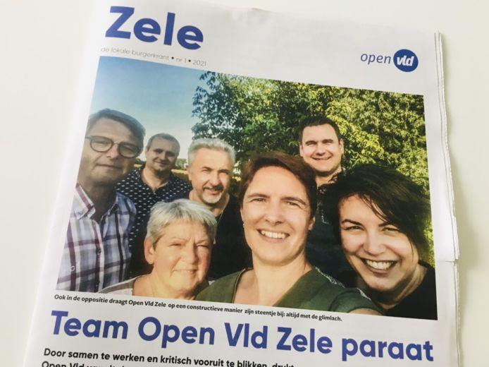 De nieuwe burgerkrant van Open Vld Zele.