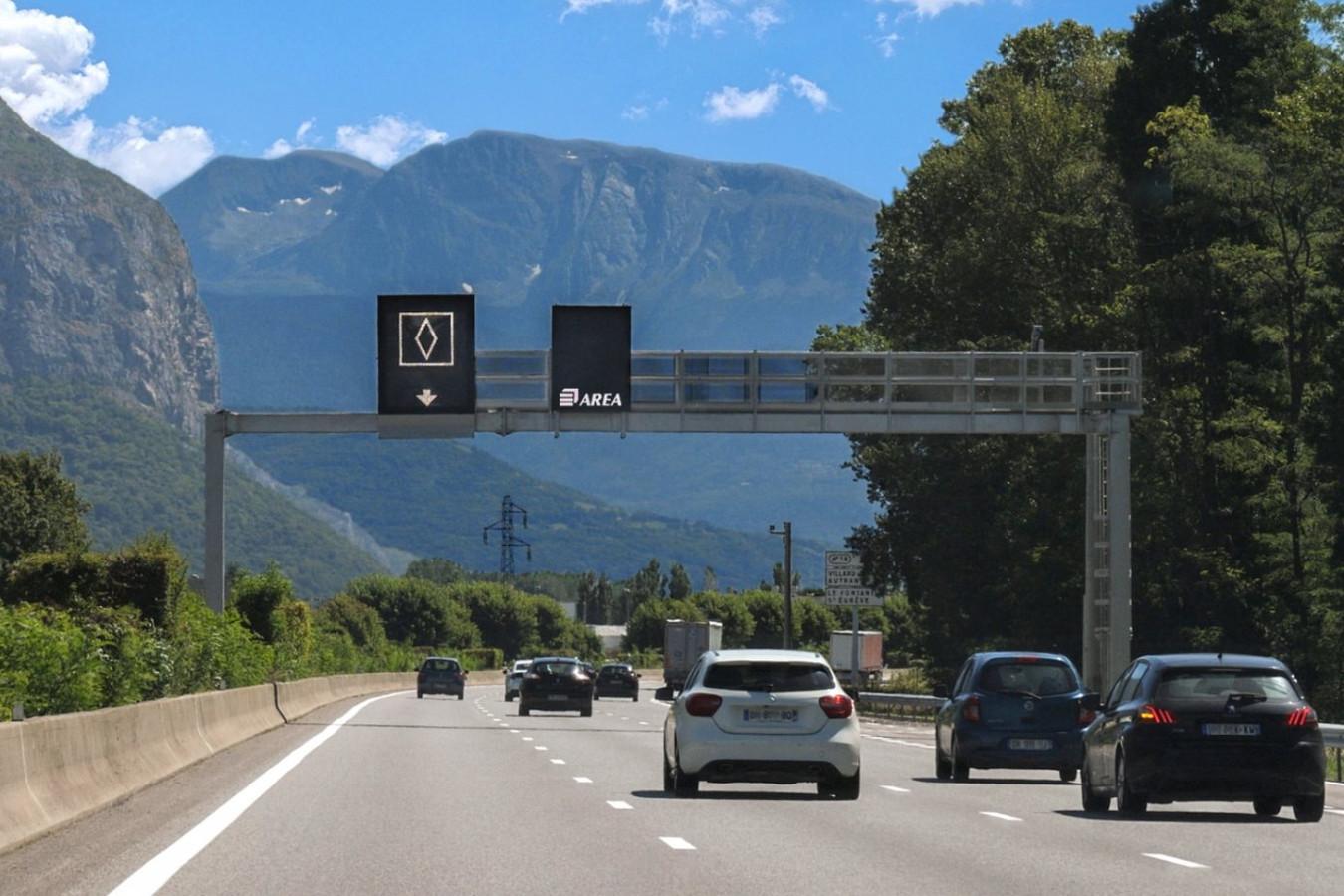 Het nieuwe Franse verkeersbord met de ruit.