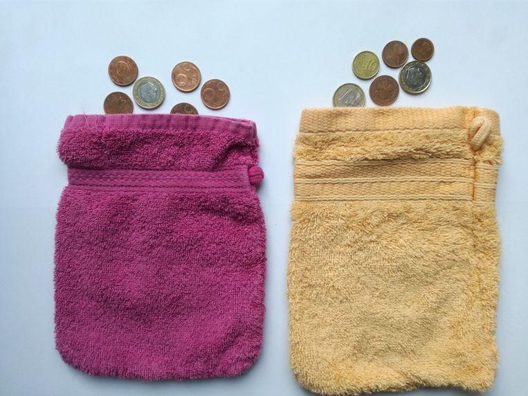 Washandje om geld te gaan ophalen