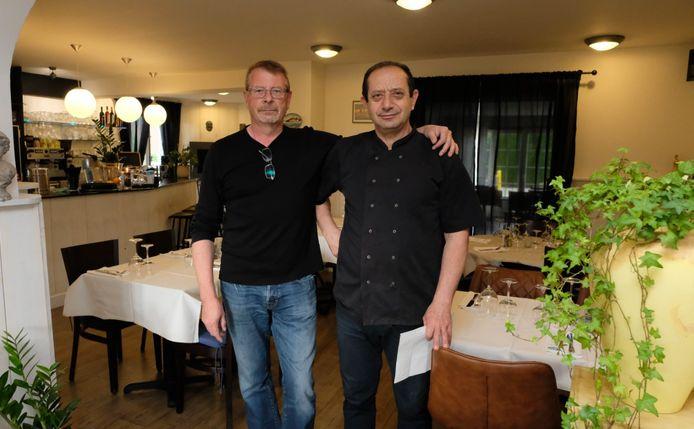 Patrick Leysen en Kostas Fetfatzidis van het nieuwe Griekse restaurant Gonia in Lier.