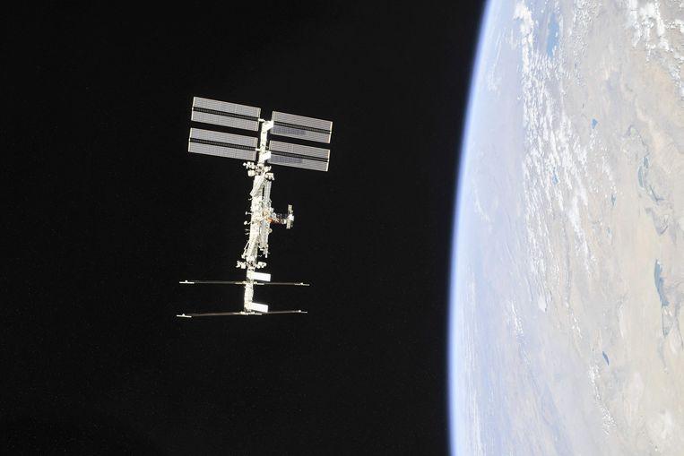 Het International Space Station (ISS). Beeld AFP