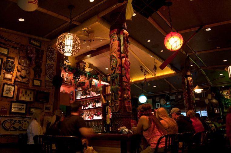 Trader Sam's Enchanted Tiki Bar in Disneyland (Anaheim). Beeld Robin Broos