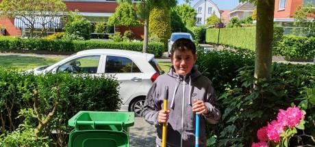 Ondernemende Ilyas (12) knapt tuinen op en inspireert leeftijdsgenootjes: 'Later wil ik mijn eigen tuinbedrijf'