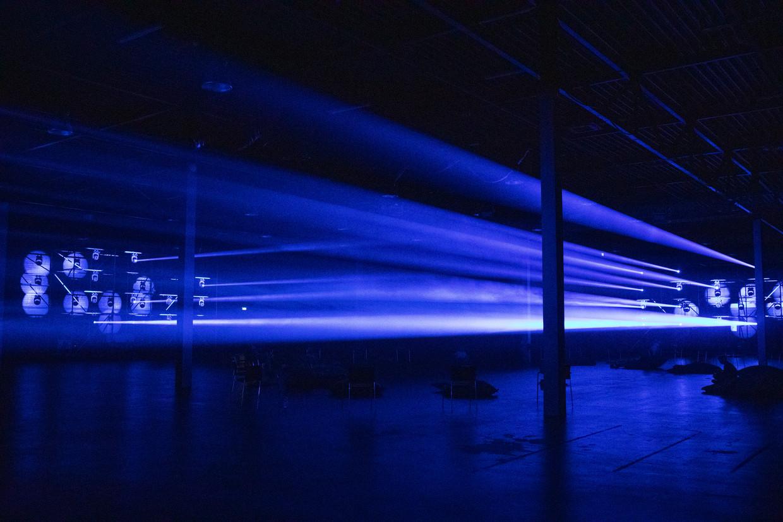 In de zogenaamde Black Box op het Hemterrein is de installatie te zien waarvoor Secret Cinema samen met Egbert de soundtrack verzorgde.