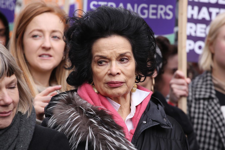Bianca Jagger, Brits-Nicaraguaans mensenrechtenactiviste en ex van Mick. Beeld Getty Images
