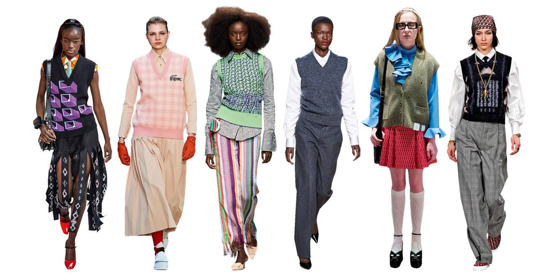 Vanaf links: Prada, Lacoste, Kenneth, Marc Jacobs, Gucci, Dior Beeld Imaxtree