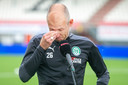 Robben wordt emotioneel na het duel met FC Emmen.