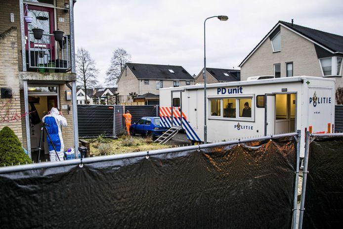 Politieonderzoek bij het huis van Marjolein Bosch, in februari 2020.