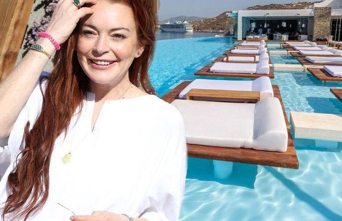 Lindsay Lohan is kind aan huis op Mykonos