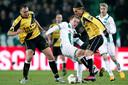 Van der Weg en Nemanja Gudelj samen in actie tegen FC Groningen.
