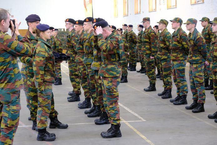 Mutsenparade Bataljon Artillerie