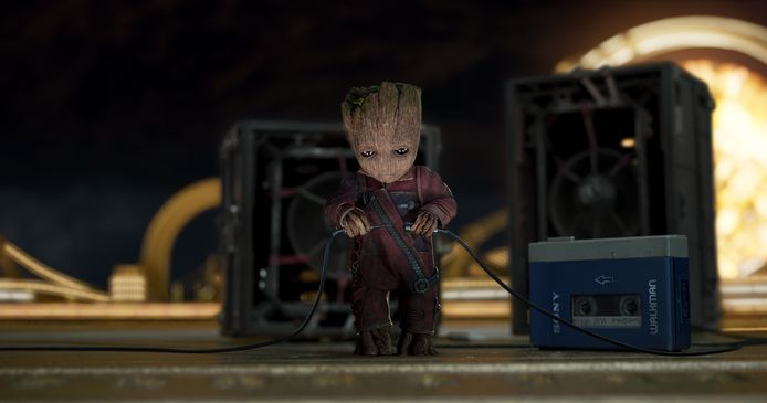 Baby Groot in Guardians of the Galaxy