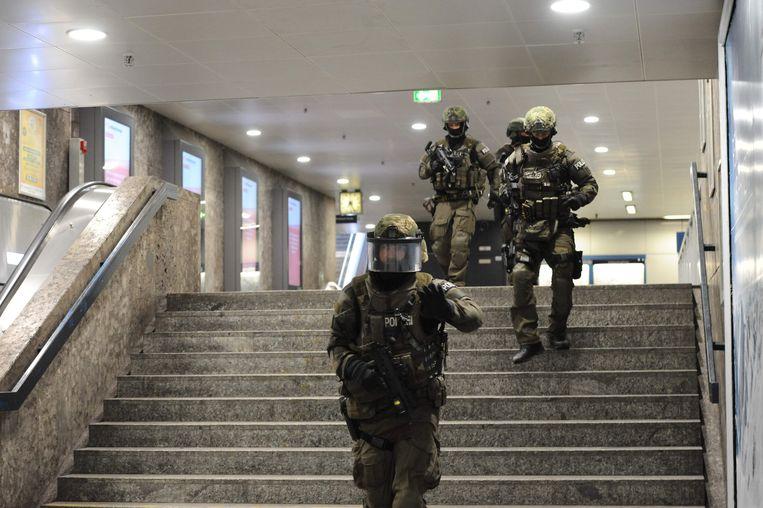 Er werd een klopjacht gehouden op de dader(s). Beeld AFP