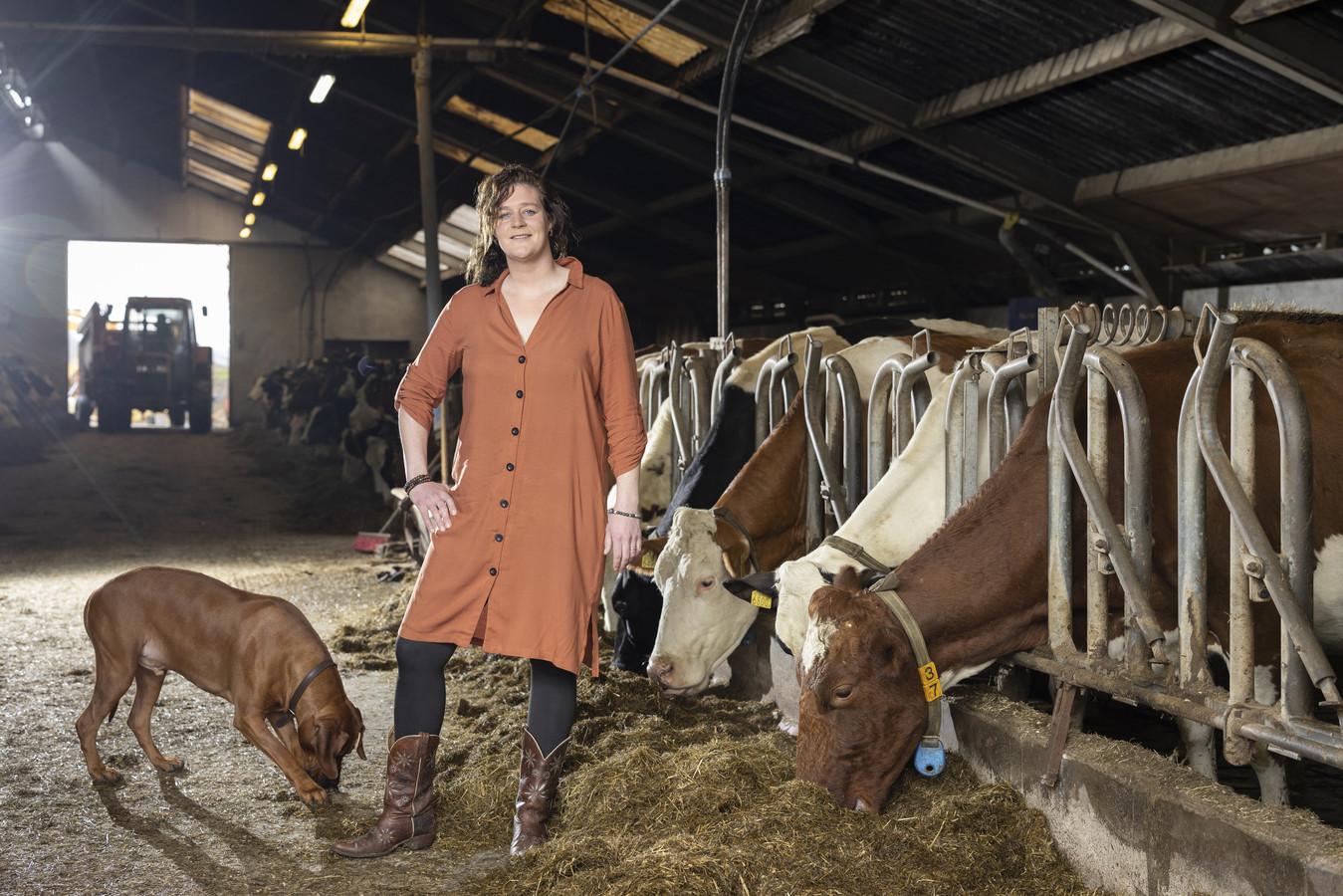 """De Holtense Michelle Bloemendal wil in april haar zorgboerderij op orde hebben om cliënten dagbesteding te kunnen aanbieden. """"Er is hier voor elk wat wils. De eieren moeten worden geraapt en de schapen hebben verzorging nodig."""""""
