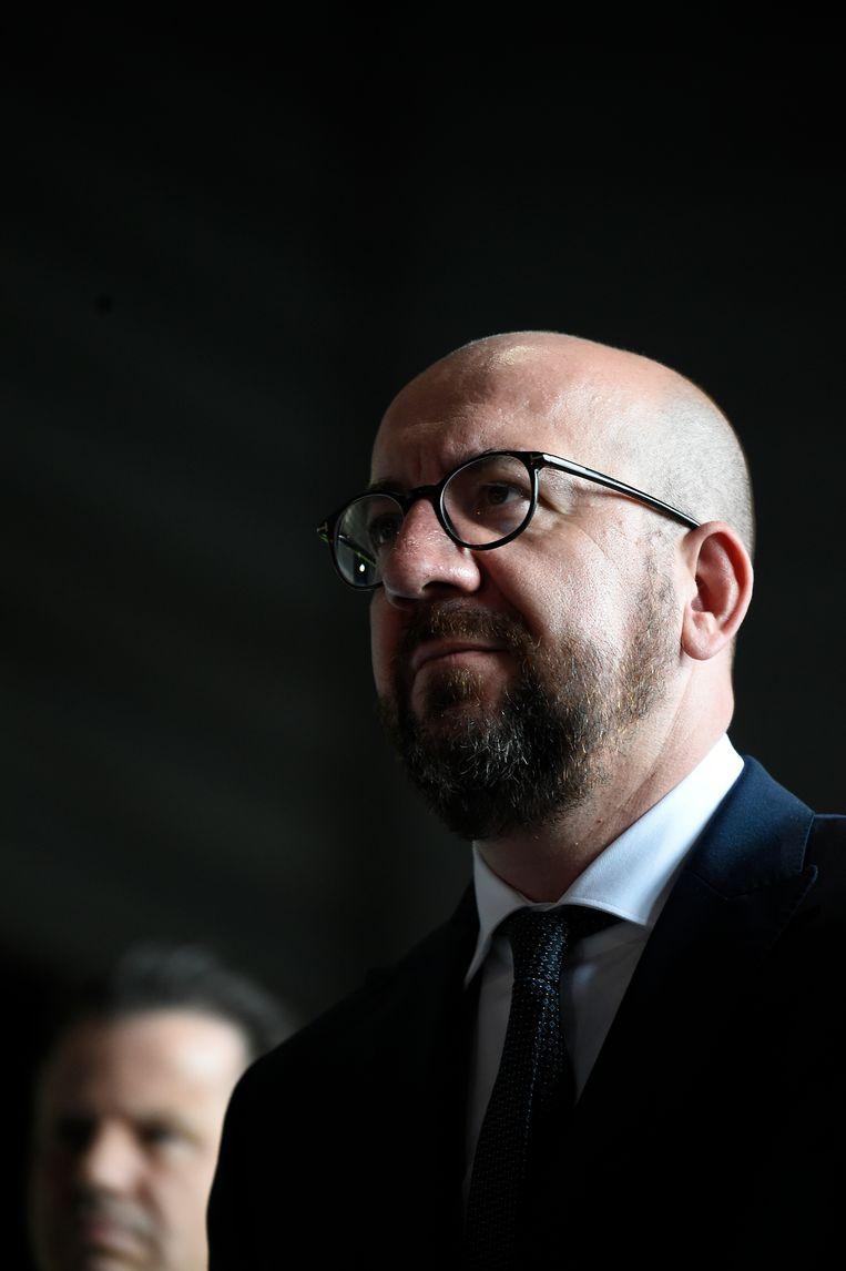 Krijgt de MR van premier Michel een ferme tik van de kiezer, dan wordt een voortzetting van de huidige coalitie bijzonder moeilijk.   Beeld BELGA