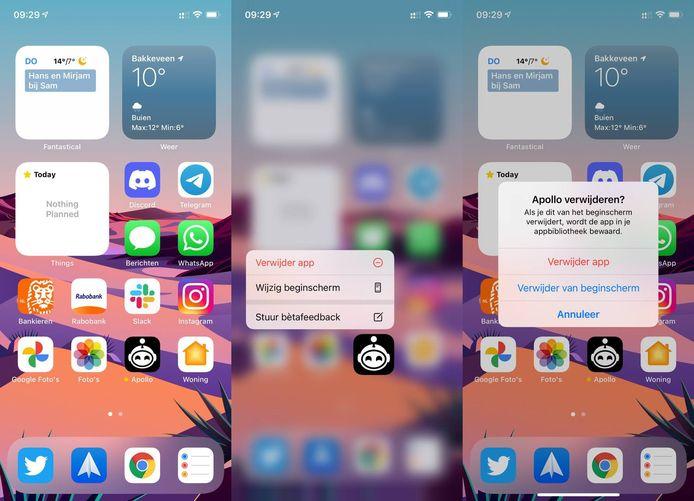 Zo verwijder je apps op iOS.