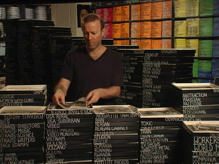 Alan in zijn studio in 2005 Beeld Alan Berliner