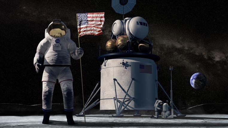 Op de maan dreigt een nieuwe Koude Oorlog - Volkskrant