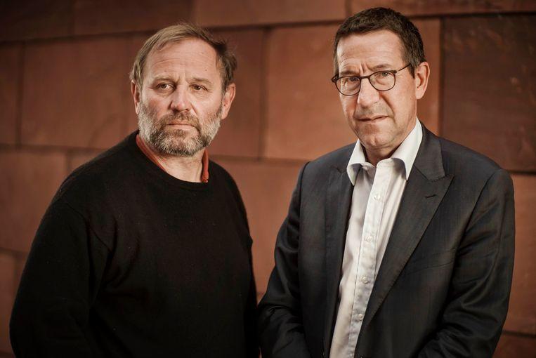 Europarlementslid Bart Staes en toxicoloog Jan Tytgat. Beeld Eric de Mildt