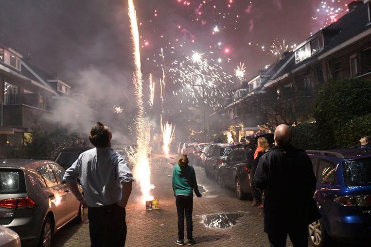 Nieuwjaarsnacht in Rotterdam. Beeld Hollandse Hoogte / Peter Hilz