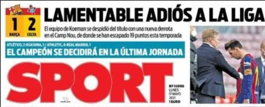 De cover van Sport.