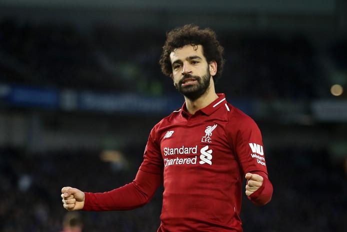 Mohamed Salah is op weg naar zijn tweede topscorerstitel op rij in Engeland.