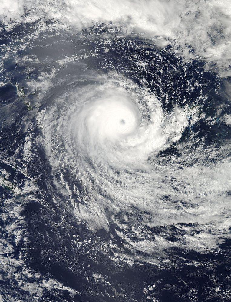 De superstorm Winston in 2016 richtte voor vier miljard euro schade aan in Oceanië.