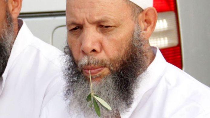 Imam Mohamed Al-Maghraoui tijdens een bijeenkomst in Marrakech.