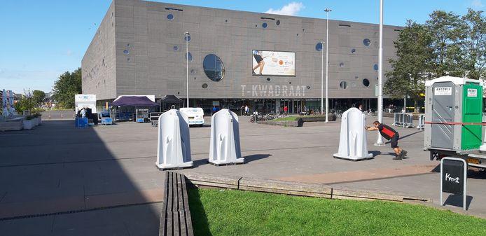 Voorbereidingen voor het Willem II feest donderdag