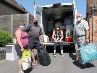 """Koppels zamelen spullen in voor slachtoffers wateroverlast: """"We gaan onze vakantie wijden aan hulpverlening"""""""