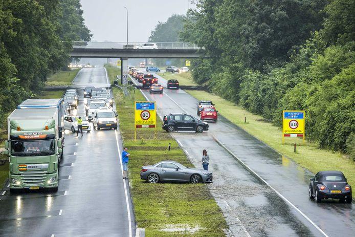 Snelweg A79 ter hoogte van Heerlen.