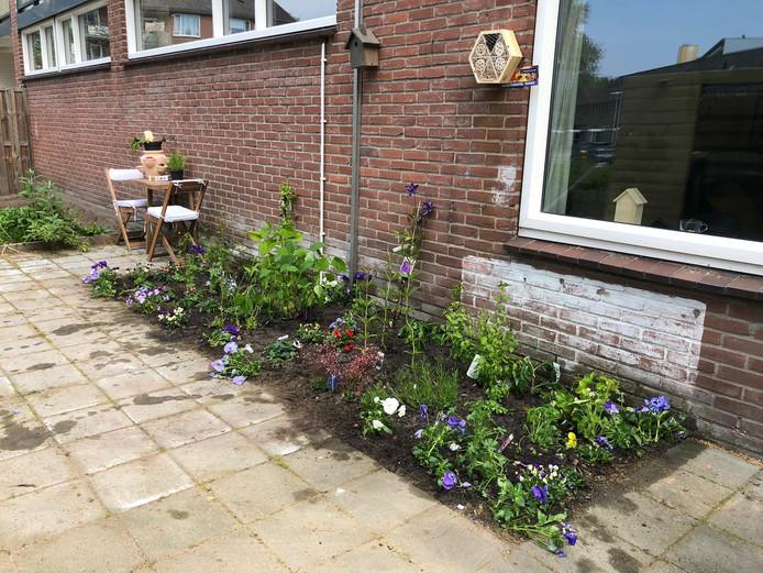 En de tuin van Iris na de 'ingreep' afgelopen zaterdag.