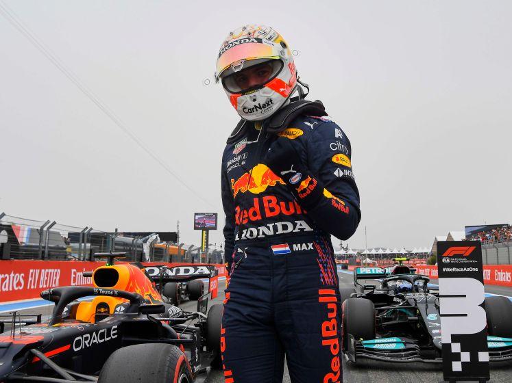 Kijk hier hoe Verstappen pole pakt, Hamilton P2 en Bottas P3 in Frankrijk