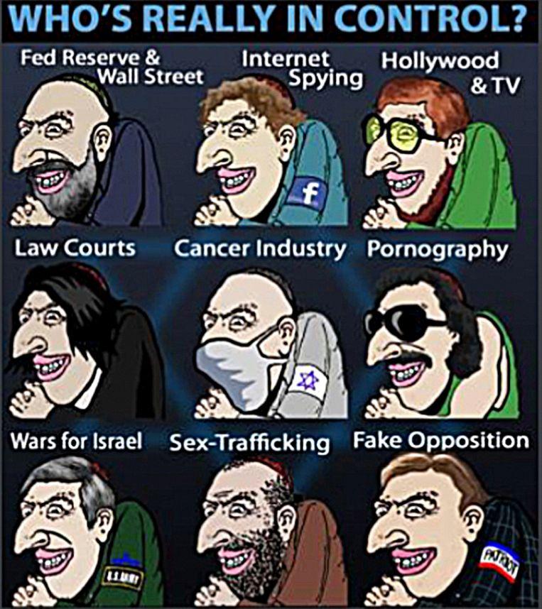 De figuur van de Happy Merchant – en soms de Unhappy Merchant – wordt het meest gebruikt in antisemitische memes. De cartoon van de 'sluwe Jood' met overdreven kenmerken (grote neus, scherpe tanden, gebogen rug) werd in de jaren negentig getekend door A. Wyatt Mann, vermoedelijk een pseudoniem van de Amerikaan Nick Bougas, die meerdere rechts-extremistische tekeningen maakte. De Happy Merchant duikt in allerlei hoedanigheden op – in memes over immigratie, diversiteit, feminisme – om te illustreren dat er sprake is van een Joodse samenzwering. Soms wordt alleen het handenwrijven uitvergroot. Beeld