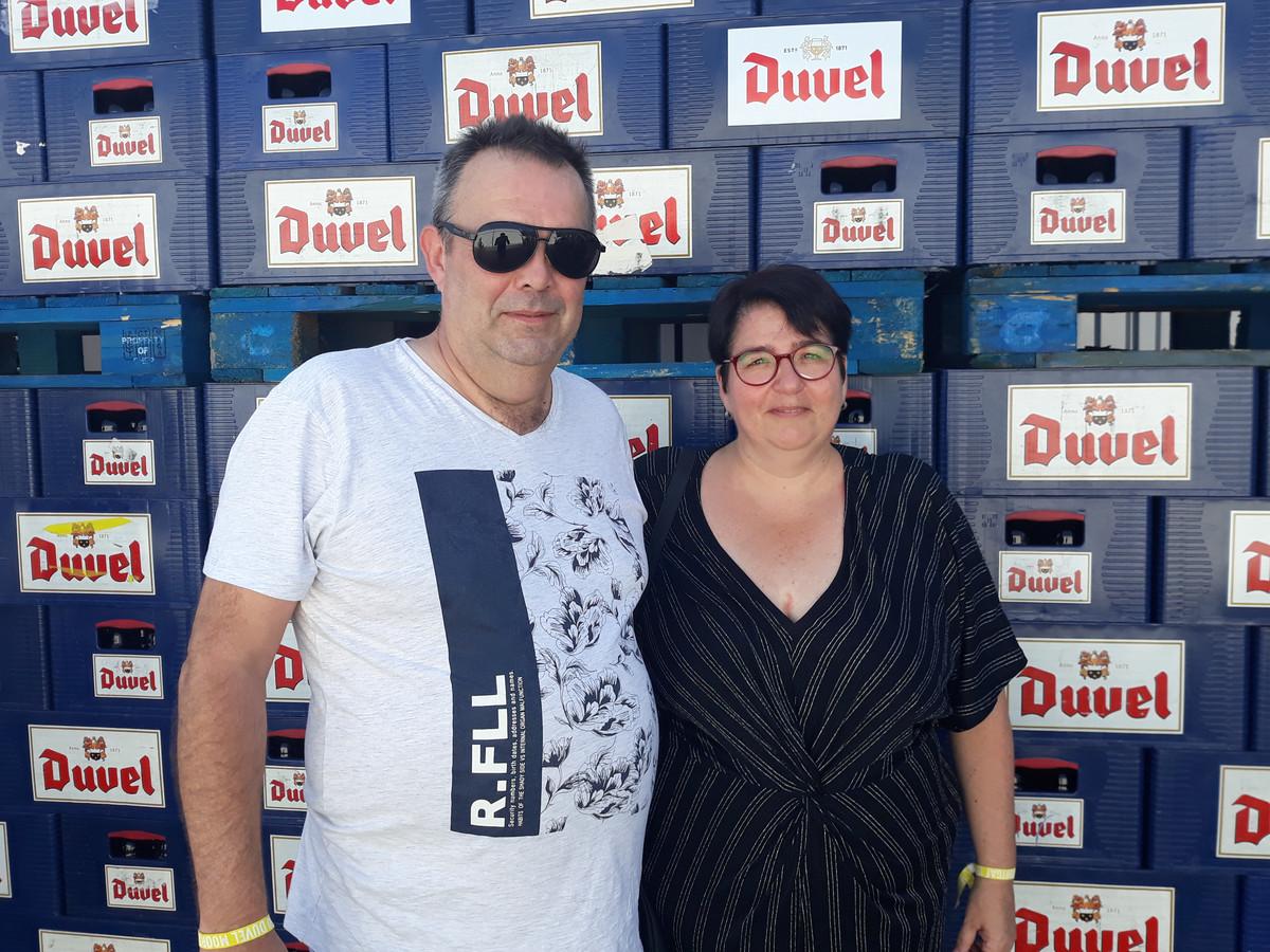 Stefan Schoepen en Sandra Lodders tijdens het feest voor 150 jaar Duvel Moortgat.