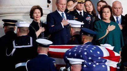 Lichaam Bush opgebaard in Capitool waar publiek afscheid kan nemen van president