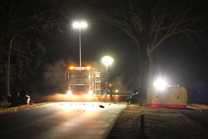 Bij een eenzijdig ongeval in Bornerbroek kwam een automobilist om het leven.