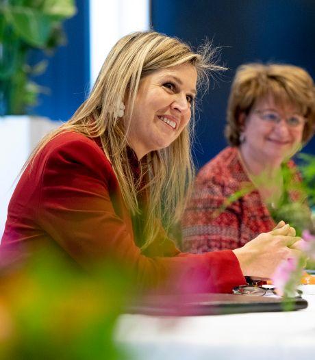 'Goed ingelezen' Máxima deelt de zorgen van de ondernemers in Veenendaal