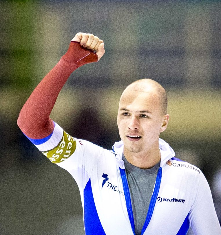 Pavel Koelizjnikov, de wereldkampioen sprint van dit jaar. Beeld ANP