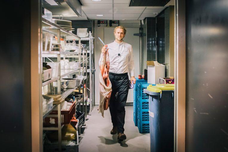 Chefkok Joris Bijdendijk staat aan het roer bij Rijks in Amsterdam. Dit restaurant heeft sinds 2017 een Michelinster. Beeld Marcel Wogram