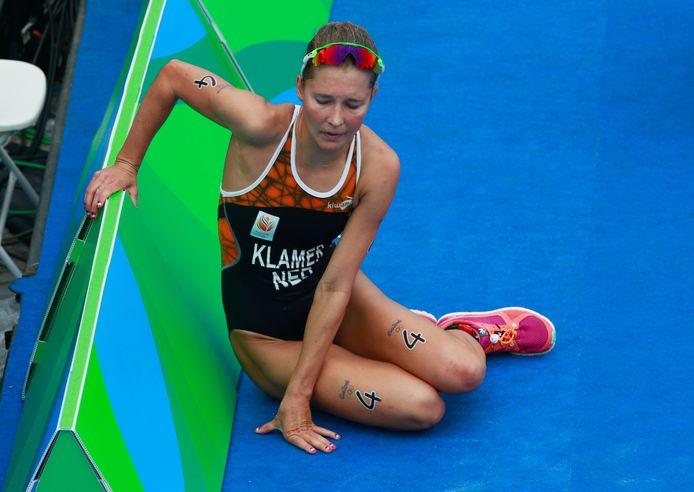 Rachel Klamer, moegestreden na haar tiende plaats tijdens de Olympische Spelen van 2016 in Rio.